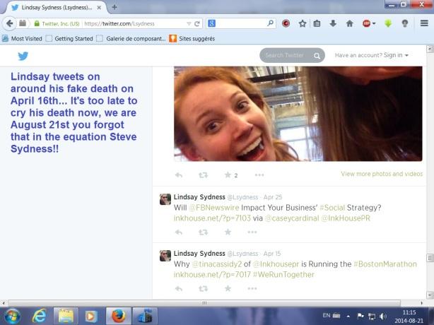 Lindsay tweets